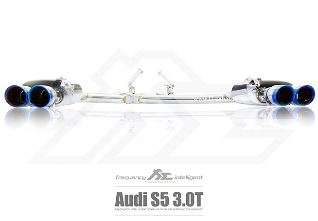 Audi S5 Titan Blue Exhaust
