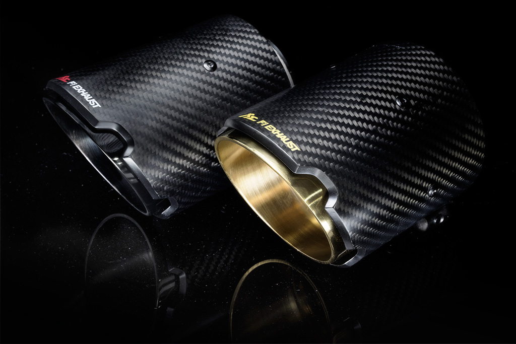 BMW carbon tips:GOLD/BLACK