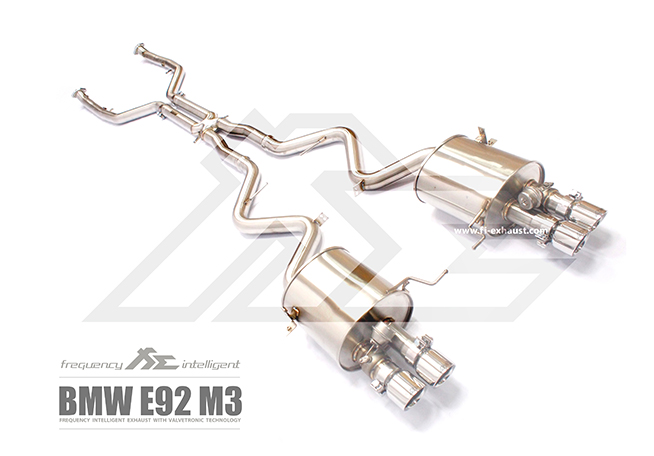 BMW E90 E91 E92 E93 M3 exhaust1