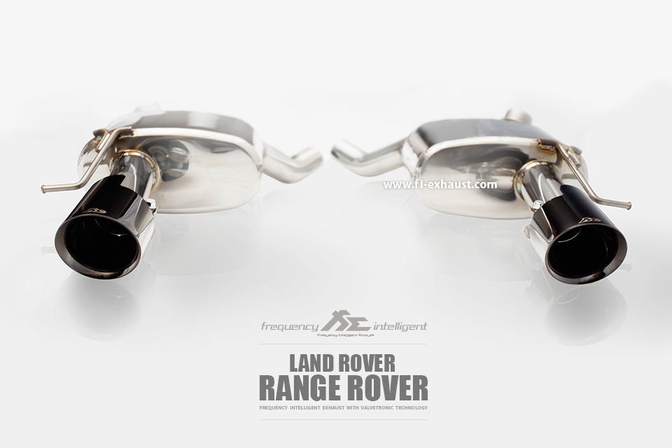 Land Rover range rover chrome black tips