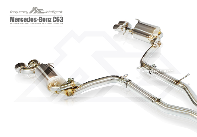 MERCEDES-BENZ W204 AMG C63 Catalytic Catless Cat Down Pipe Exhaust Quad Tips